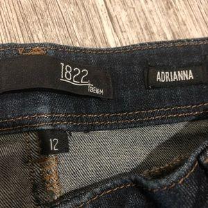 "1822 Denim Jeans - 1822 Denim Adrianna Cut Blue Jeans Inseam 28"""